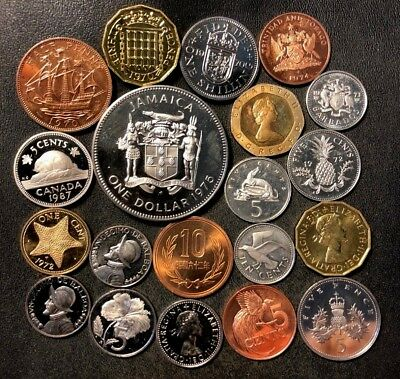 Old World Coin Lot - Proofs - 19 Awesome Assorted PROOF Coins - Lot #N16