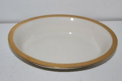 """2 Gorgeous Lenox China """"lowell"""" 9.5""""x7.25""""oval Serving Bowls-Gold Encrusted Band"""