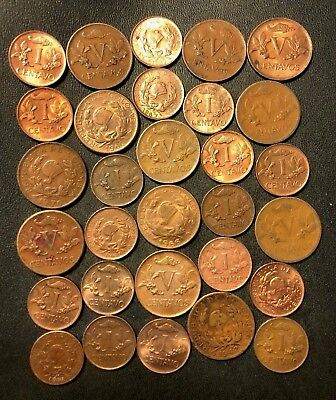 Old Colombia Coin Lot - 1944-1970 - 30 Excellent Scarce Centavo Coins - Lot #N16