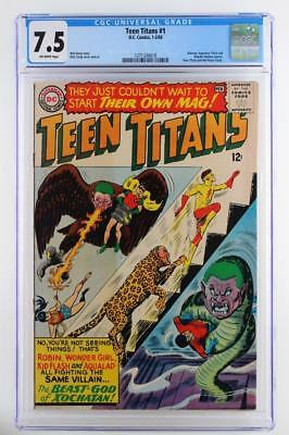 Teen Titans #1 - CGC 7.5 VF- DC 1966 - Teen Titans join Peace Corps!!!