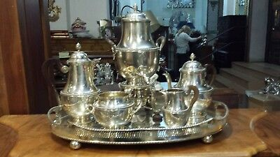 5400g STERLING SILVER MASTERPIECE1890 HIGH DESIGN KETTLE COFEE-TEA SET 6 PIECES