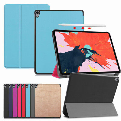 For Apple iPad Pro 12.9 Inch 3rd Gen 2018 Rugged Leather Folio Smart Case Cover