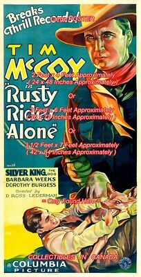 RUSTY RIDES ALONE 1933 Cowboy = POSTER 3 Sizes 4 / 6 / 7 FEET = Buy 2 Get 1 FREE