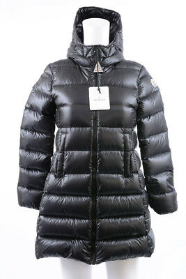 Moncler Suyen black girls 12 down quilted hooded puffer coat jacket NEW $660