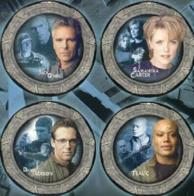 Stargate SG-1 Collector's Limited Edition China Plate Set #1 NEW UNUSED