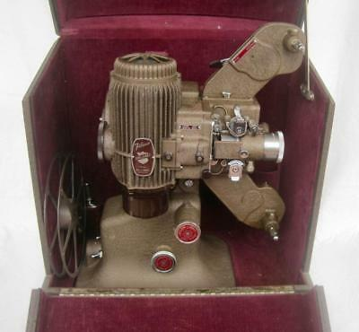 Bell Howell Filmo Diplomat 16mm Silent Film Movie Projector & Case Works 1940's