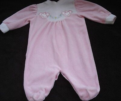 Vintage Little Me Pink Infant Footed Sleeper Outfit Doves Size Medium