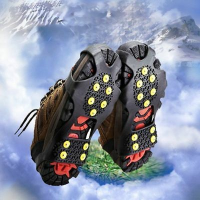 Ice Snow Anti Slip Spikes-Grippers Grips Cleats Over Crampons Shoe Cover Camping
