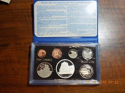 1978 New Zealand 7-Coin Proof Set in Original Wallet - Gem Cameos w/ Silver $
