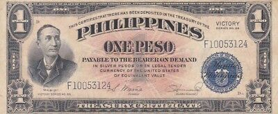 "1944 Philippines 1 Peso ""Victory"" Note, Pick 94"