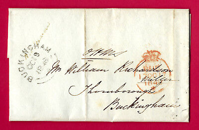 Gr Britain, London PAID OHMS Crown postmark to BUCKINGHAM 1848 with contents VF