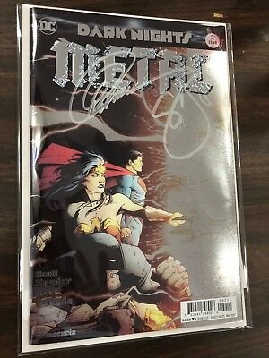 Dark Nights Metal #2 Signed by Greg Capullo and Scott Snyder with COA