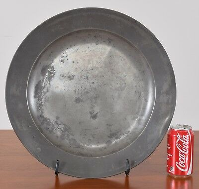 John Home London Pewter Charger mid 18th Century 16 1/2 inch London Superfine