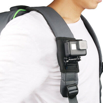 For Go Pro Backpack Clip Buckle Mount Sports Camera Holder 360 Degrees Rotatable