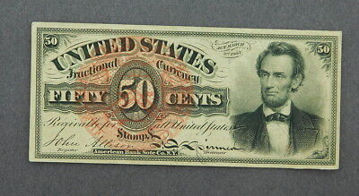 U.s. Fractional Currency 50 Cents  Abraham Lincoln Au