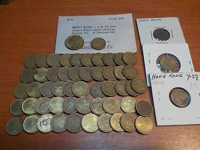 Mixed Lot of Circulated Coins from Hong Kong   Five Cent Coins
