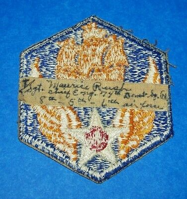 ORIGINAL NAMED WW2 6th AIR FORCE PATCH OFF UNIFORM, 74th BOMB SQUADRON