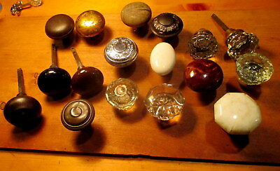 Lot of 17 Old Door Knobs Victorian Door Hardware Vintage Interior Door Knob