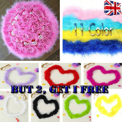 2M Feather Boa Strip Fluffy Craft Costume Fancy Dress Wedding Party Hen Night Y