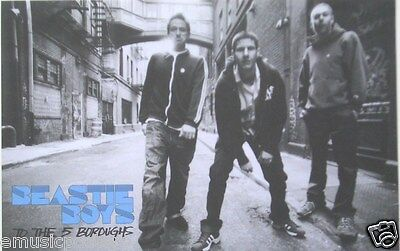 """BEASTIE BOYS """"TO THE 5 BOROUGHS"""" POSTER -Shot Of The Group Standing In The Alley"""