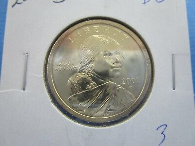 2007 D  SACAGAWEA Golden Dollar Native American PROOF LIKE  Coin US Mint