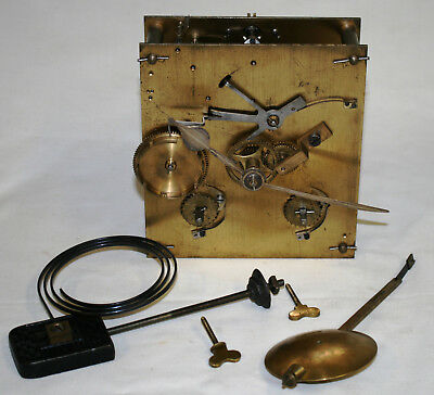 Very Rare Potts of Leeds Large Antique Clock Movement + Hands Pendulum & Chimes