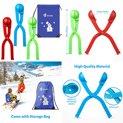"Snowball Maker SNOW Toys For Kids Outdoor Winter Play Games Boys 15"" LARGE 3 Pac"