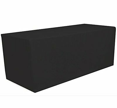 GWHome 4' ft x 2.5' ft Fitted Polyester Tablecloth Rectangular Table Cover Party
