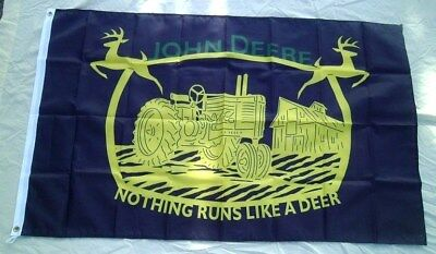 John Deere Tractor 3' X 5' Polyester Flag Banner Man Cave NEW # 454