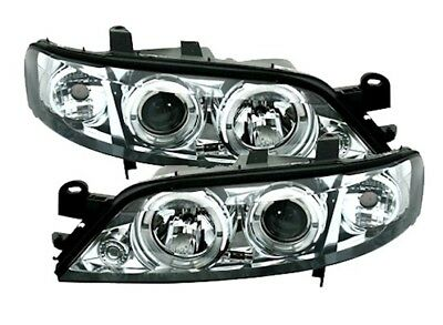 Angel Eyes Scheinwerfer Set für OPEL VECTRA B 2/99-3/02 Facelift in Chrom 930094