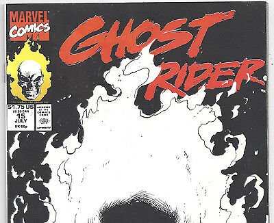 Marvel Comics Ghost Rider #15 Glow in the Dark Cover July 1991 in F/VF Con. DM