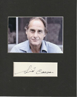 Sid Caesar Signed matted with Photo frame size 8x10 COA 11/18 Choice of 2