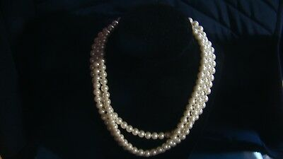 "Stunning Vintage Estate Faux Pearl 52"" Necklace!!!"