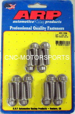 Arp Header Bolt Kit 400-1209 Universal 5/16 Wrench 3/8 Size 1.000 Uhl Qty 12