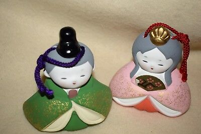 Easte: Japanesse Bell, Christmas Ornament, Rattle Set of Him and Her LOOK