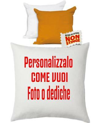 Cuscino Personalizzabile Bicolore Bianco Arancio 40x40 cm PS 10748 Gadget Person