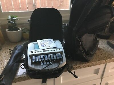 Student stenograph machine with rolling case/bag