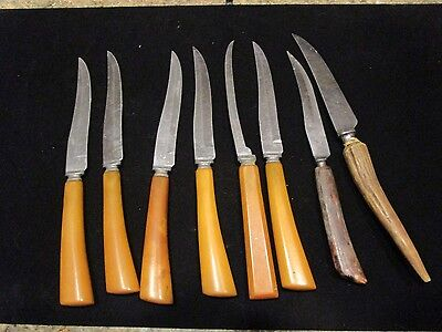 Lot of vintage stainless steel Forgecraft Hoffirtz Steak Knives - LOTLUD