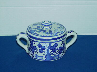 MMA Repro of 17th century Two-handled covered jar tin glazed pottery humidor