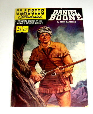 Classics Illustrated #96   Daniel Boone    Hrn #128   3Rd Print