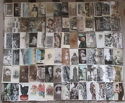 Collection of Real Photo & Printed Postcards Antique & Vintage Lot