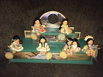 Enesco Friends of the Feather Tiered Display and 6 Figures ~ Karen Hahn