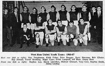 West Ham United Youth Team Football Photo>1966-67 Season