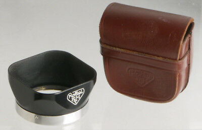 original Rolleiflex lens hood bayonet I, with leather case _____ genuine Rollei