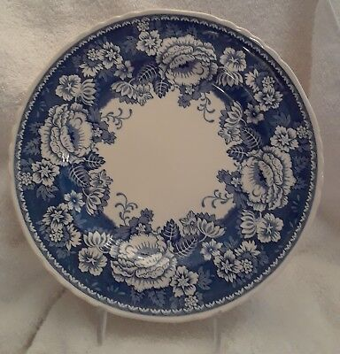 """Mason's England Blue & White Ironstone for Crabtree & Evelyn Plate 10.25"""""""