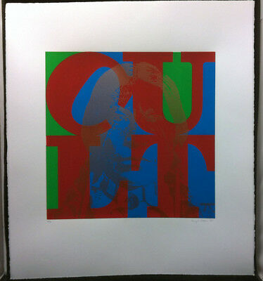 THE CULT Love 1985 Limited Edition Lithograph Signed By Artist Hugh Brown 5 of 9