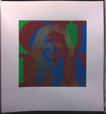 THE CULT Love '85 Limited Edition Lithograph Signed By Artist Hugh Brown 8 of 86