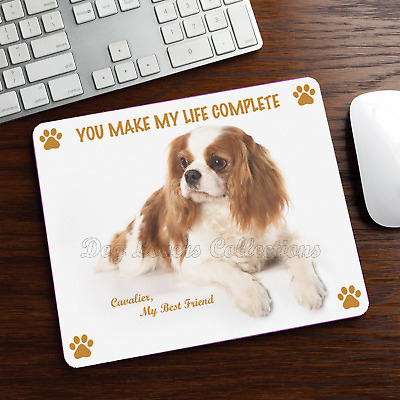 CAVALIER KING CHARLES SPANIEL MOUSE PAD Rubber Mat Dog Portrait Art Gifts Stuff