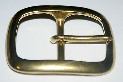 SOLID BRASS HEAVY FULL OVAL  BELT BUCKLE FOR 40mm STRAP