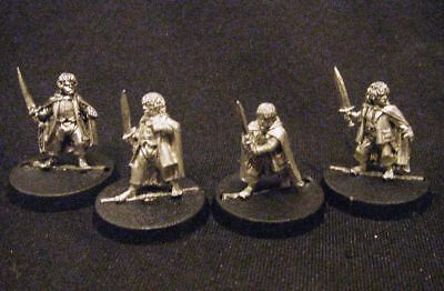 OOP Lord of the Rings Heroes -- THE HOBBITS -- Fellowship Frodo Sam Merry Pippin